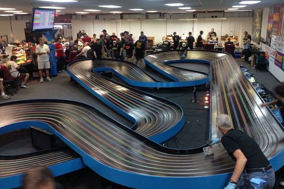 At a slot cars competition